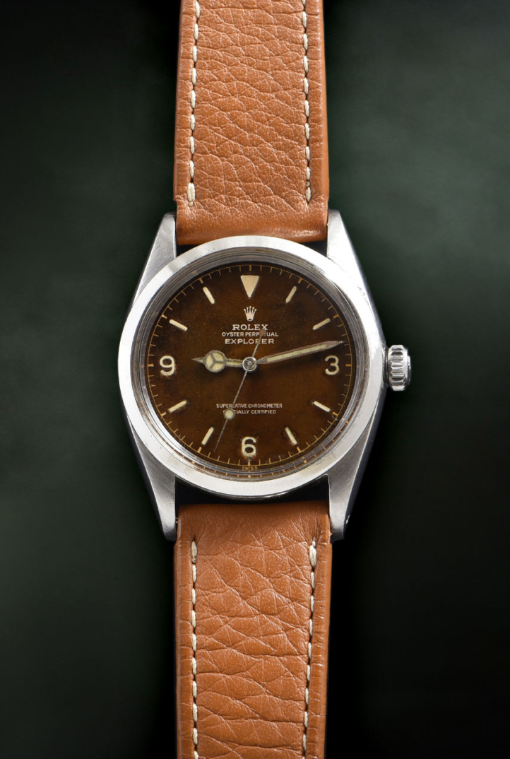 Rolex Explorer Tropical Gilt Dial Ref. 1016
